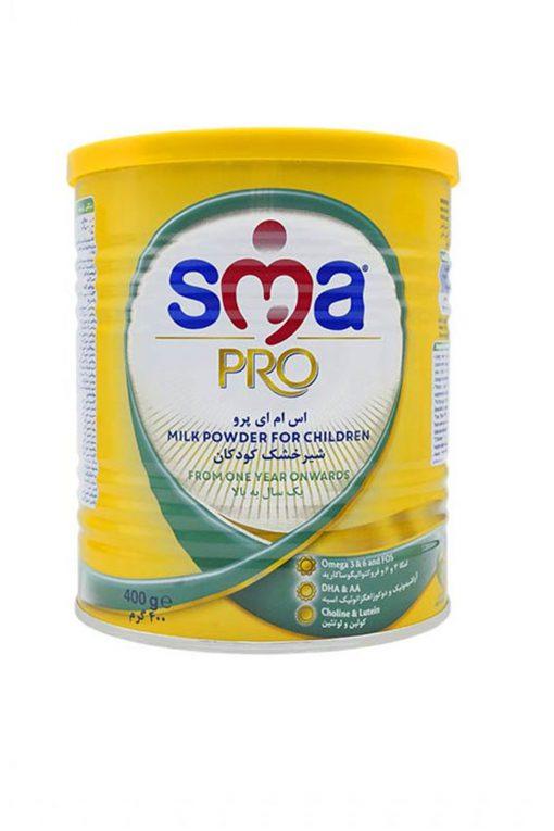 شیرخشک 3 نستله پروداکتس حاوی کولین و لوتئین وزن 400 گرم سری اس ام ای