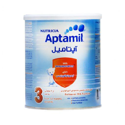 شیرخشک 3 نوتریشیا حاوی آهن و روی 400 گرمی سری آپتامیل 3
