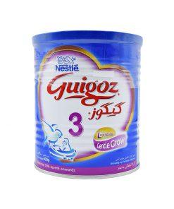 شیر خشک 3نستله حاوی پروتئین و کبوهیدرات 400 گرمی سری گیگوز