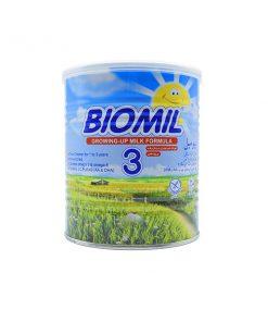 شیر خشک 3 فاسکای حاوی آهن و اسیدهای چرب وزن 400 گرمی سری بیومیل