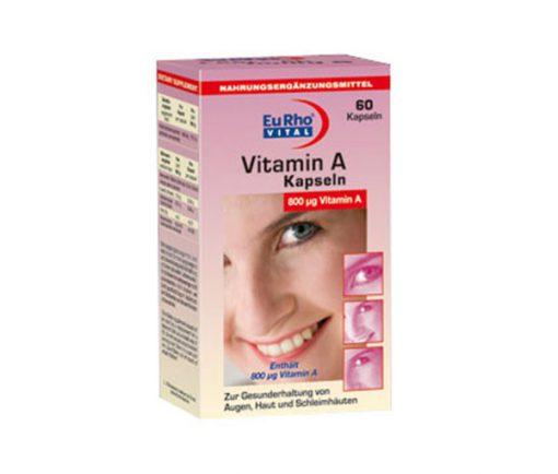 کپسول مکمل ویتامین آ یورو EURHO ویتال 60 عددی