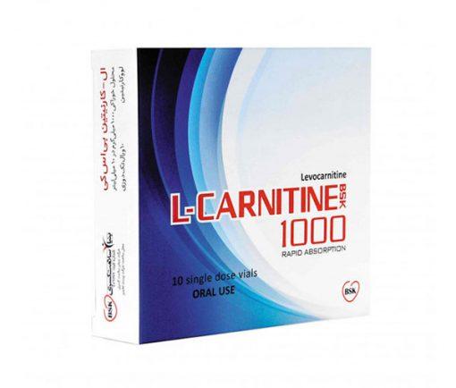 ویال مکمل ال-کارنیتینL Carnitine 1000 بی اس کی 10 عددی