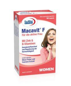 کپسول مکمل ماکاویت Macavit اف بانوان یوروویتال 60 عددی