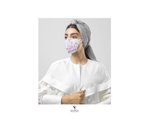 ماسک فیلتردار سایدا سری فشن طرح خانم گل
