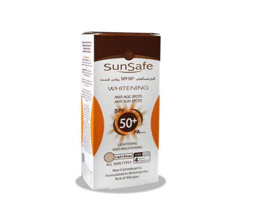 کرم ضد آفتاب رنگی و روشن کننده پوست سان سیف اس پی اف 50 حجم 50 میل