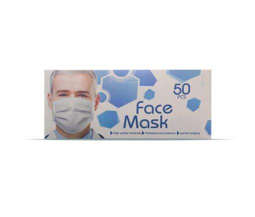 ماسک سه لایه ی فیس ماسک جدید در بسته بندی 50 عددی