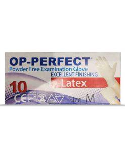 دستکش جراحی لاتکس اوپی پرفکت در بسته بندی 10 عددی
