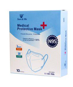 ماسک N95 شور اند می 5 لایه در بسته بندی 10 عددی