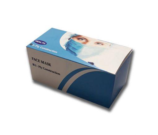 ماسک سه لایه ی پزشکی فیس ماسک در بسته بندی 50 عددی (کد24)