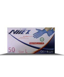 دستکش جراحی نیتریل نیتکس در بسته بندی 50 عددی