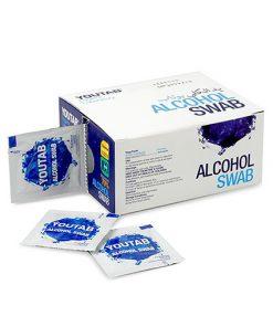 پد الکلی یوتاب حاوی الکل 70% بسته بندی 100 عددی