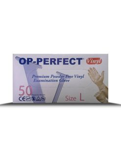 دستکش جراحی وینیل اوپی پرفکت در بسته بندی 50 عددی