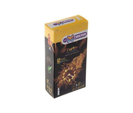 کاندوم توربو ایکس دریم Xdream در بسته بندی 12 عددی