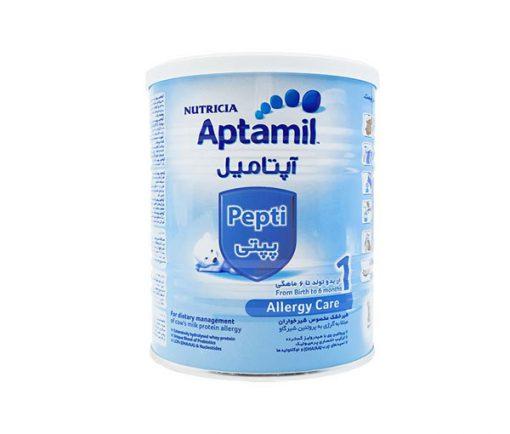 شیر خشک آپتامیل پپتی 1 مناسب برای نوزادان مبتلا به آلرژی وزن 400 گرم