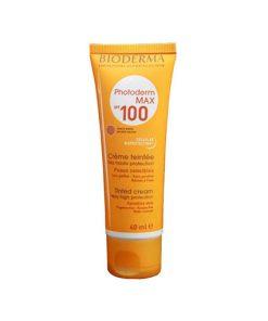 کرم ضد آفتاب رنگی بایودرما spf 100مناسب انواع پوست حجم 40 میل