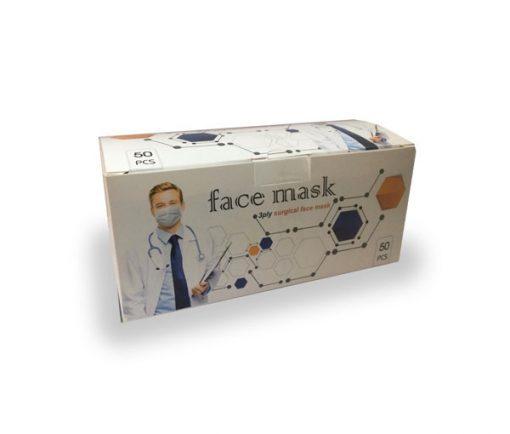 ماسک سه لایه ی پزشکی فیس ماسک ویژه کودکان در بسته بندی 50 عددی