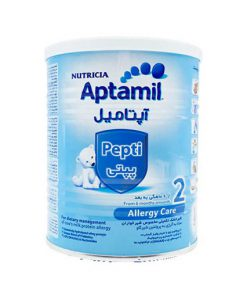 شیر خشک نوتریشیا آپتامیل پپتی 2 حاوی پروتئین وزن 400 گرم