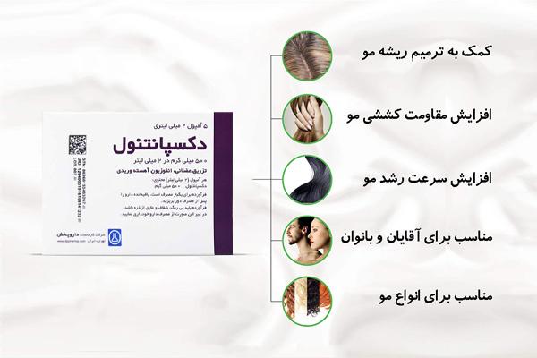 دکسپانتنول مناسب برای درمان ریزش مو